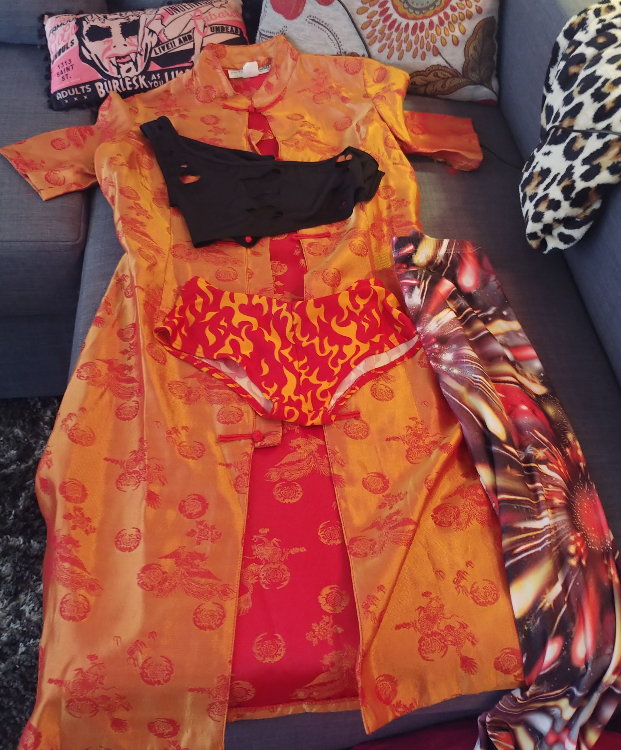 #sinstyle fire costume
